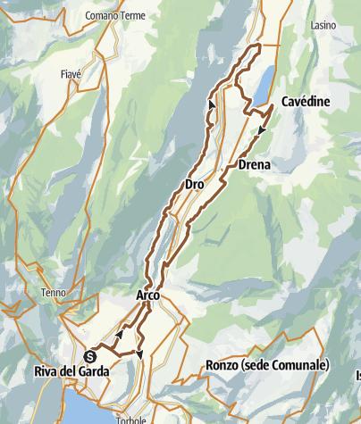 Карта / Riva-Pietramurata-Cavedine-Arco-Riva