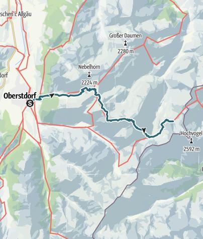 Cartina / Alpenquerung: Tag 1