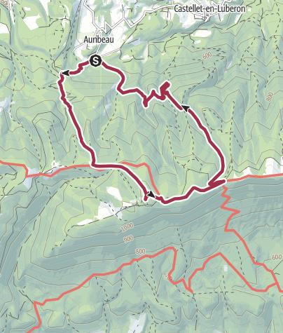 Map / Wanderung auf den Mourre Nègre