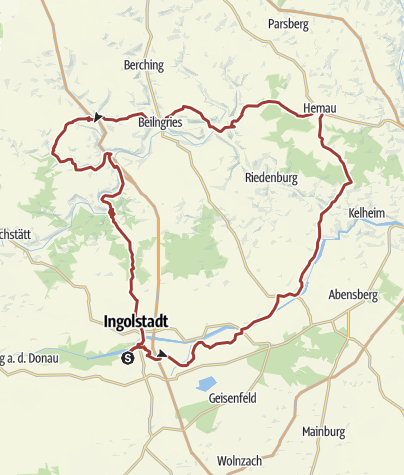 Karte / 19. Oktober 2017  Rollerausfahrt nach Hemau