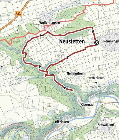 Karte / Geschichtswanderweg Neustetten