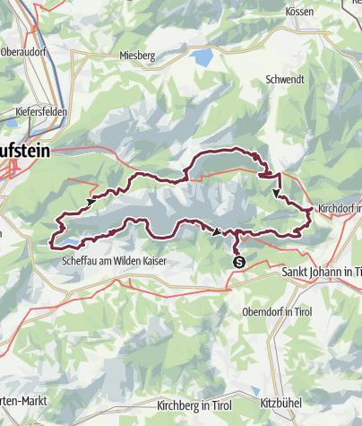 Karte / Kaiserkrone - In 5 Tagen rund um den Wilden Kaiser