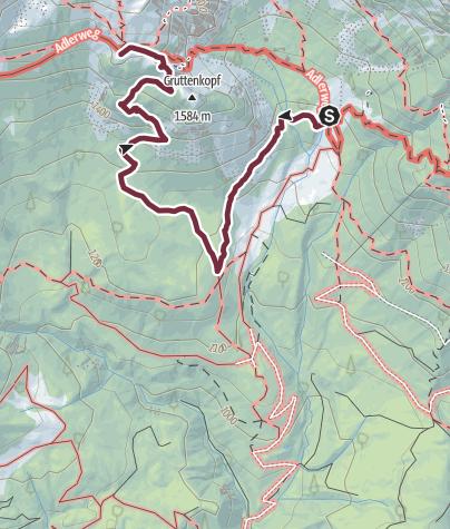Map / Kaiserkrone - alternative route bypassing Klamml