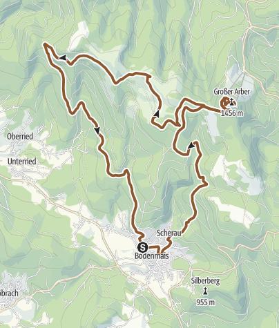 Karte / Arber-Schareben-Tour