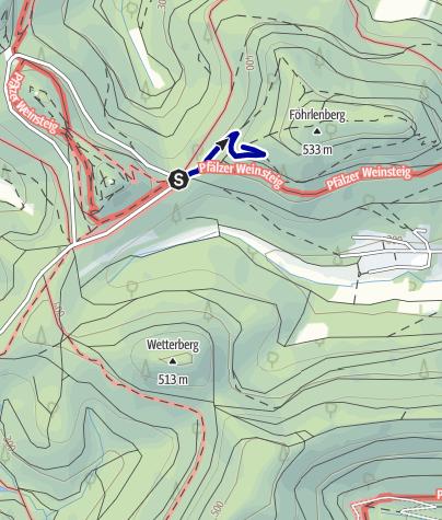 Karte / Trifelsblick vom Slevogtfelsen