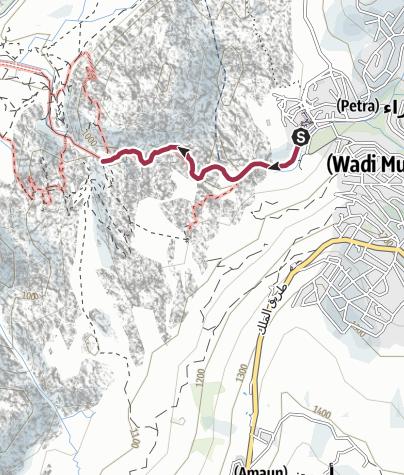 Karte / Petra - durch den Sik zum Schatzhaus