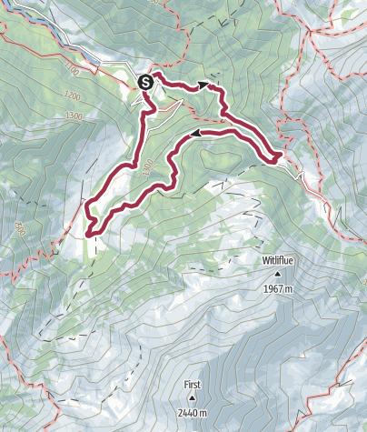 Karte / Suld-Pochtenfall-Louene-Undere Obersuld Panoramaweg
