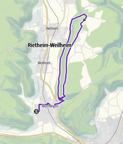 Karte / Butterwegle-Albtraufweg
