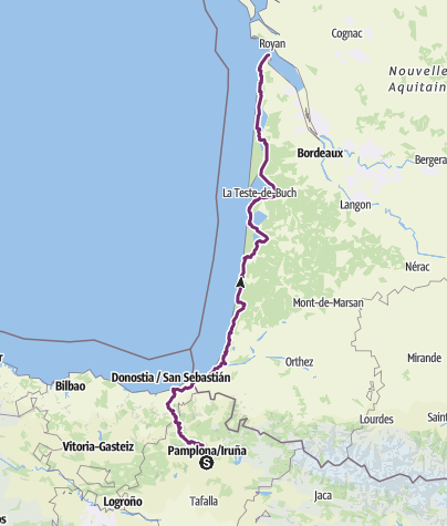 Karte / e11-1 Pamplona - Royan EV1 491km