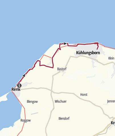 Karte / Von Rerik nach Kühlungsborn