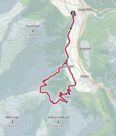 Map / Längenfeld (Camping Ötztal) –Polltalalm