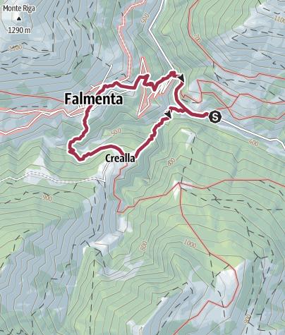 Karte Lago Maggiore Und Umgebung.Lago Maggiore Valle Connobina Lunecco Crealla Falmenta
