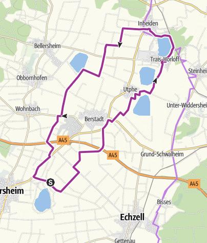Karte / Wetterauer Seenplatte - Nordroute