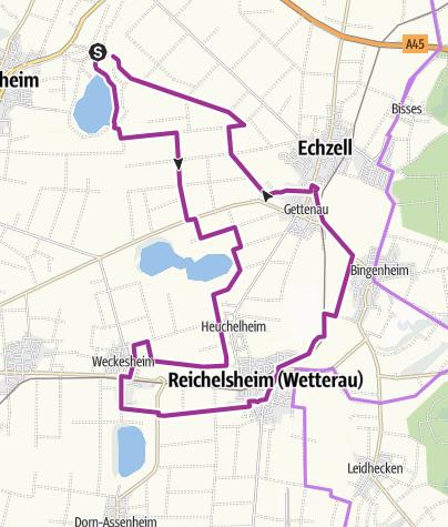 Karte / Wetterauer Seenplatte - Südroute