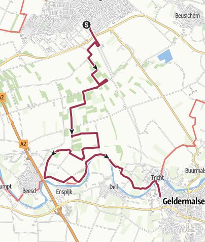Karte / Culemborg NS - Geldermalsen NS