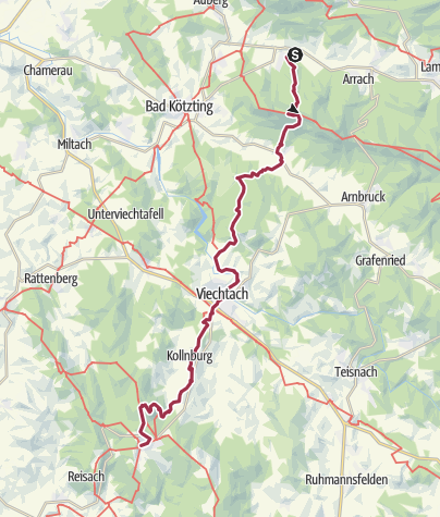 Karte / Der direkte Weg vom Kaitersberg zum Pröller