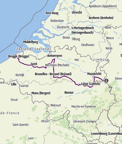 Karte / Belgien