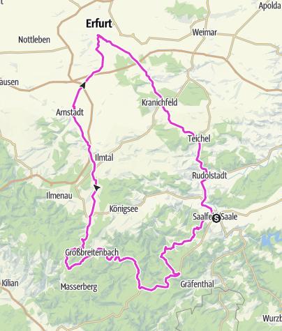 מפה / TKL 2018.4_Saalfeld - Erfurt