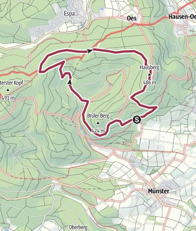 Karte / Hausberg-Runde Butzbach