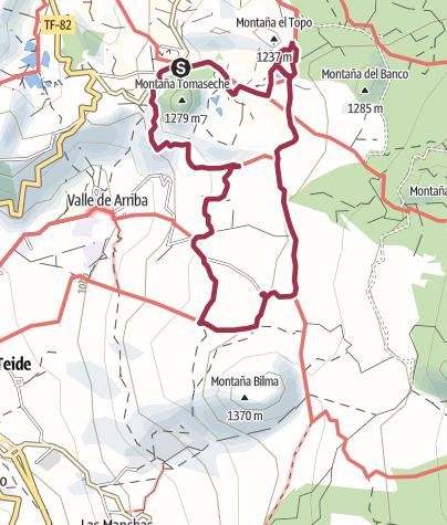 "Karte / 15. November 2017 Mittwochswanderung ""Um den Baum"" oberhalb Santiago del Teide"