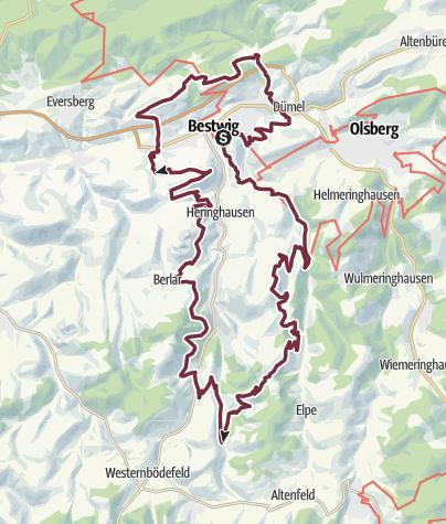 Karte / Qualitätsweg - Bestwiger Panoramaweg