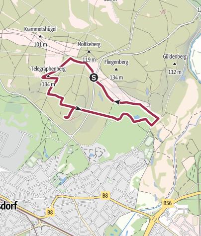 Karte / Wahner Heide - Zur Eremitage und dem Leyenweiher