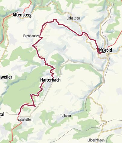 Karte / Der Gäurandweg - Etappe 4