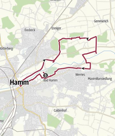 Map / B+H-2017-11-23: Bad Hamm - Schloss Oberwerries - Schloss Heessen - Kurpark Bad Hamm