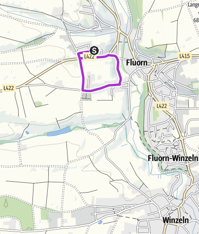 Karte / Silvesterlauf Fluorn-Winzeln 1,9 km