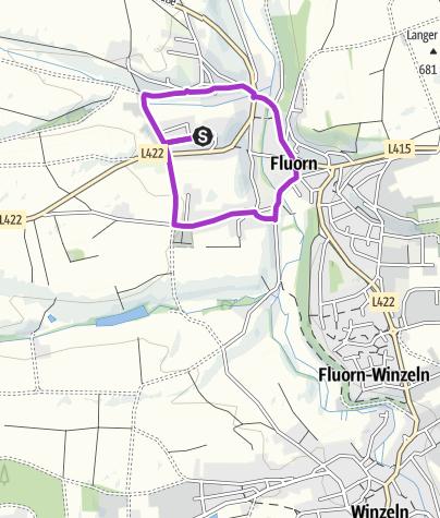 Karte / Silvesterlauf Fluorn-Winzeln 2,8 km