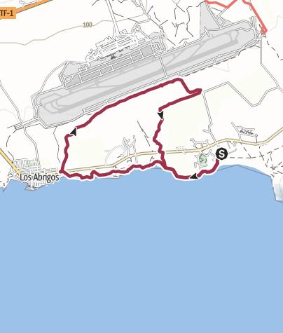 Karte / 24. November 2017 Fraitagswanderung ab der Piratenbar den Flughafen Süd entlang