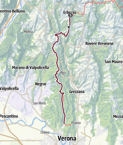 Verona Italien Karte.E5 Var 28 Erbezzo Avesa Verona Fernwanderweg Outdooractive Com