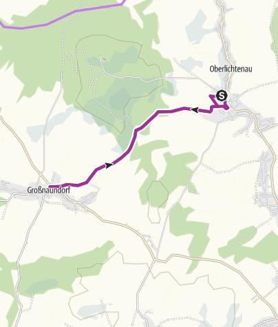 Karte / Oberlichtenauer Silvesterlauf, Streckenführung 9,2 km