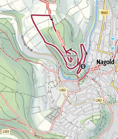 Karte / Gesundheitswanderung in Nagold