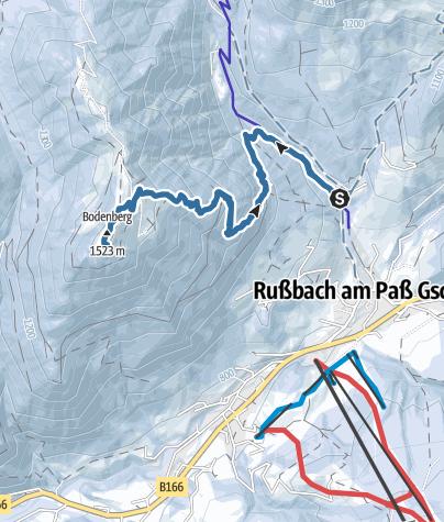 Karte / Bodenberg 1523m