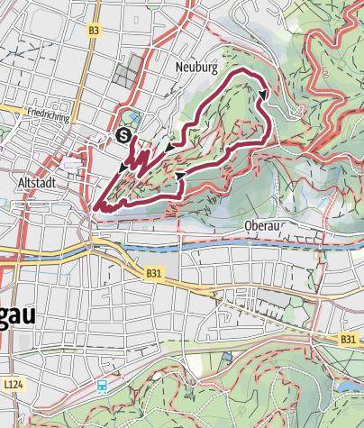 Karte / Schlossberg-Runde Freiburg
