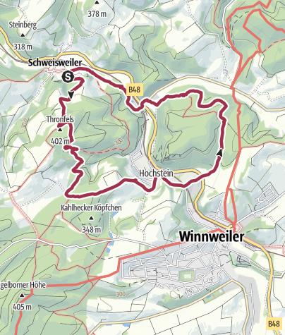 Karte / Schweisweiler, Thronfels, Kupferschmelz, Eisenszchmel 07.12.17