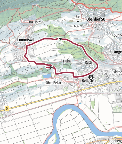 Map / PW Bellach 7 km