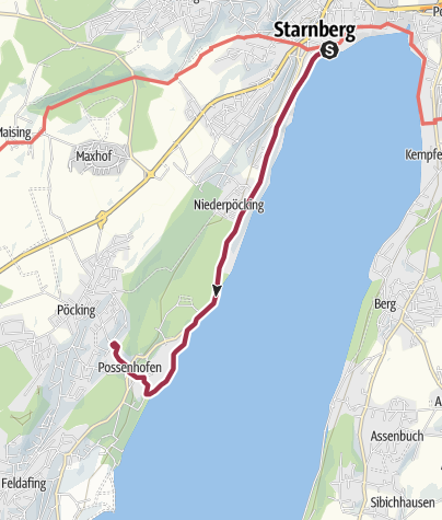 Karte / Von Starnberg nach Possenhofen