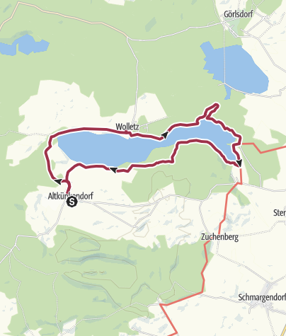 Karte / Uckermark: Rund um den Wolletzsee