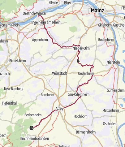 Karte / 12SelztalRheinhessen: Von der Quelle bis zur Mündung