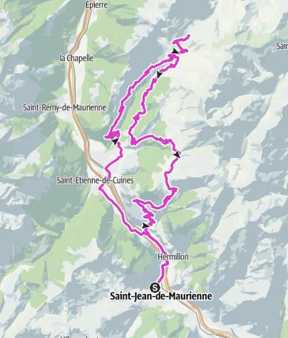Karte / Col de la Madeleine
