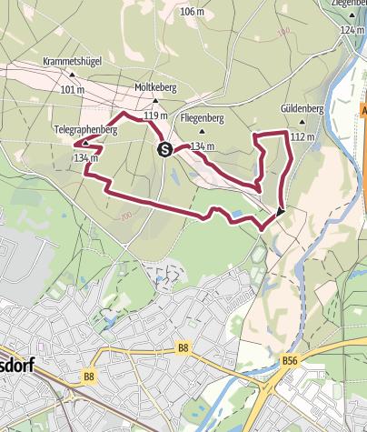 Karte / Wahner Heide-Fliegenberg und Kronenweiher