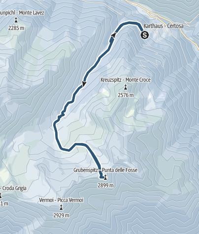 Cartina / Sci alpinismo alla Punta delle Fosse