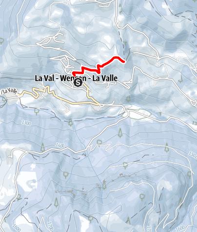 Mappa / Escursione invernale da La Val alla chiesa S. Berbura/S. Barbara