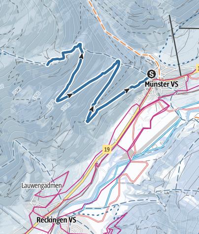 Karte / Galmihornhütte-Trail