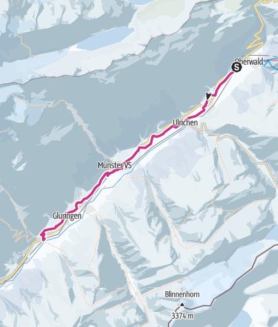 Map / Oberwald - Biel (Hangweg)