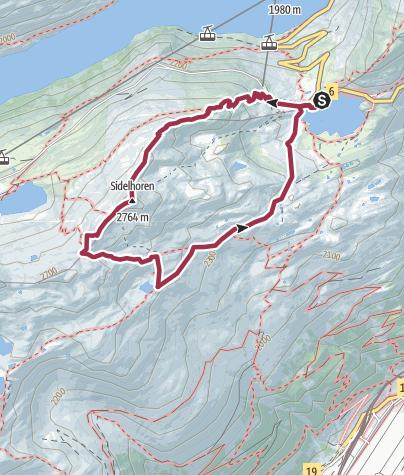 Map / Circular hike Sidelhorn