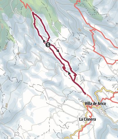 Karte / 20. Dezember 2017 Mittwochswanderung Kletterfelsen bei Arico