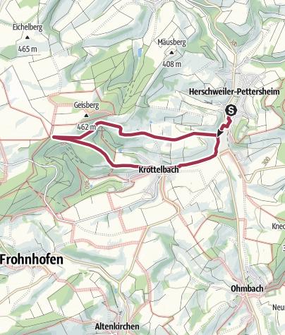Karte / Herschweiler-Pettersheim - Schloss-Wanderweg (HP6)